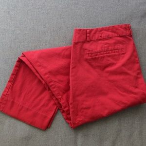 Banana Republic Red Trousers